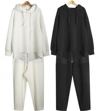 SET857 RICK.relaxing set-hoody&training pants (3colors)