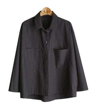BL503 wide cotton shirt (2colors)